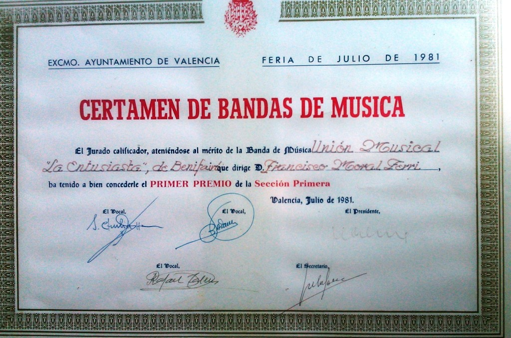 1981 Diploma Certamen València