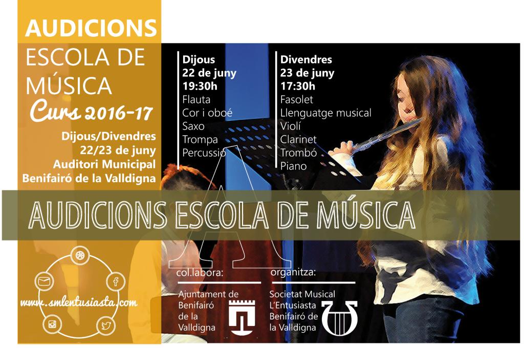 Audicions Escola Música - reduït