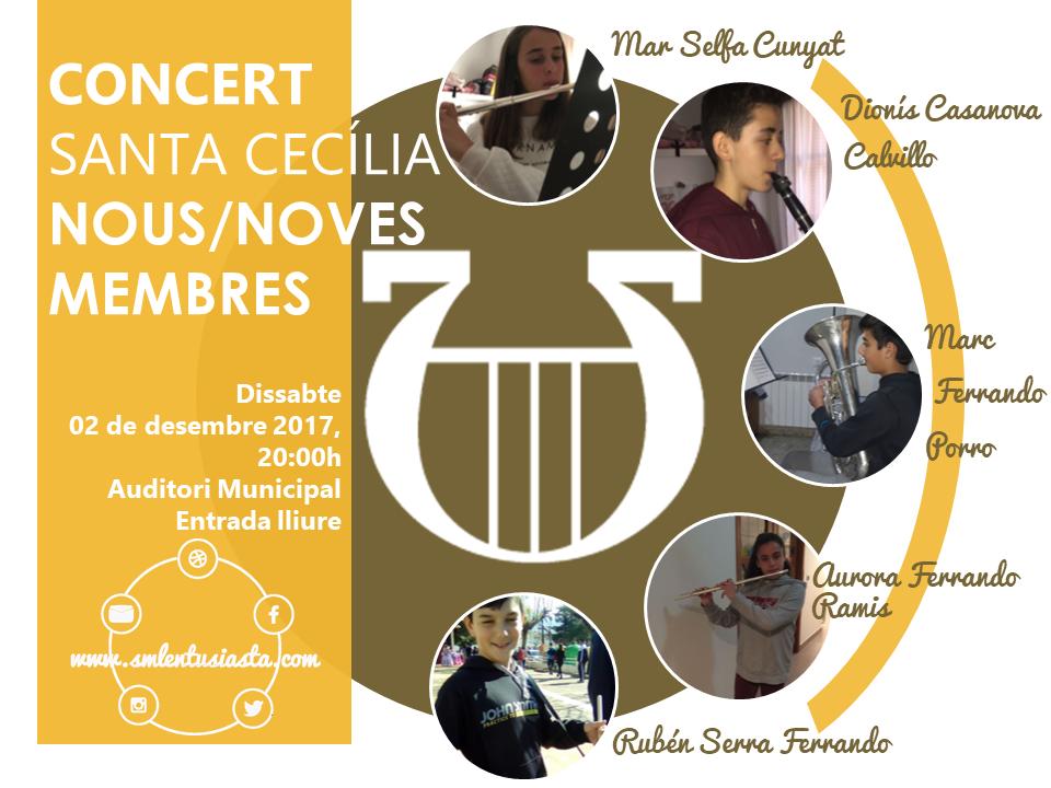 Santa Cecília 2017 Nous-noves membres
