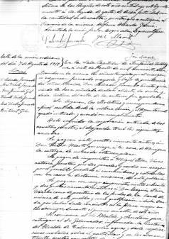 Acte del Ple de l'Ajuntament de 7 d'agost de 1910